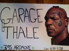 My roommate asked me to make signs for her garage sale tomorrow...