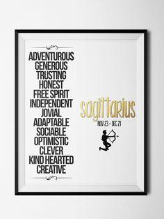 Sagittarius Qualities Print – ZodiacCity Shop