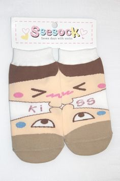 It's a cute pair of ankle socks with a kissing picture on it.  Combine each half of the sock to make a complete picture!