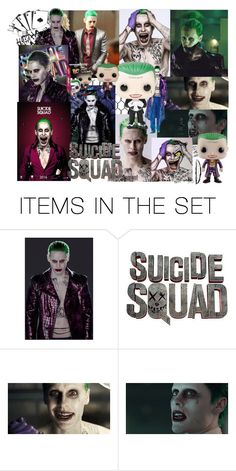 """""""Jared Leto as The Joker in SuicideSquad Movie"""" by farrahdyna ❤ liked on Polyvore featuring art"""