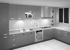 Minimalist Modern Silver Kitchen Cabinet Designs