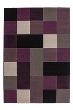 Teppich Wohnzimmer Modern Carpet Geometrisches Design RUG Funky 2034 Silber 160x230cm