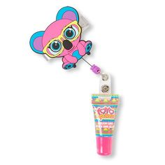 Girls Yoyo Animal Hipsters Flavored Lip Gloss And Retractable Clip - Multi - The Children's Place