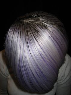 This stylist needs a high five for perfecting this purple and white!