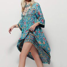 maxi dress summer/autumn dress robe longue femme boho long fringe V-neck sexy floral print vestidos Plus size Women clothing
