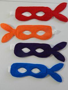 Custom Set of 4 Teenage Mutant Ninja Turtles by SEWsationalSarah, $20.00