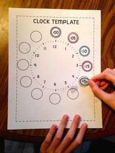 Clock Template with Stickers!  Great for Interactive Notebooks.
