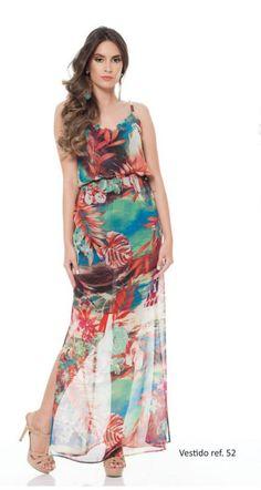 Vestido longo Azzoug. Primavera/verão 2015.