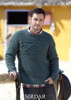 The Sirdar Click Chunky Men's Sweater Knitting Pattern 9624 is certainly that and will be a perfect buy. Description from jumpershop.co.uk. I searched for this on bing.com/images