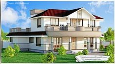#Kerala #home in CONTEMPORARY VILLA STYLE Facilities in this house  Ground Floor:1735Sq.Ft.  Sit out  Foyer Drawing room  Living  Dining  Master Bed room   Bed room attached  Kitchen W/A  First Floor –901Sq.Ft.  Balcony  Upper Living  Study room  Bed room - 2Attached  Total Area –2636SqFt
