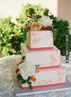 humming bird wedding cake by  photo by | CHECK OUT MORE IDEAS AT WEDDINGPINS.NET | #weddingcakes