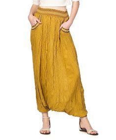 Look what I found on #zulily! Saffron Shalwar Harem Pants #zulilyfinds