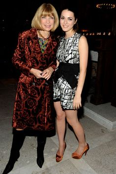 """Art of Elysium's """"Bright Lights, New City"""" Party, Vogue's Anna Wintour, in Prada, with Bee Shaffer. photo tag"""