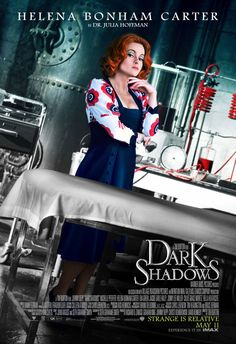 Dark Shadows , starring Johnny Depp, Michelle Pfeiffer, Eva Green, Helena Bonham Carter. An imprisoned vampire, Barnabas Collins, is set free and returns to his ancestral home, where his dysfunctional descendants are in need of his protection. #Comedy #Horror