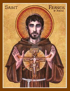 Francis of Assisi icon by Theophilia on deviantART. Great to see a Catholic presence on DeviantART. Check out her entire Saints' gallery-- she's even done some intricate pumpkin carvings of the Theotokos and the Sacred Heart of Jesus. Catholic Religion, Catholic Art, Catholic Saints, Roman Catholic, Religious Images, Religious Icons, Religious Art, The Saint, Feast Of St Francis