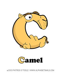 Camel - Alphabetimals make learning the ABC's easier and more fun! http://www.alphabetimals.com