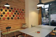 The Book Club - Shoreditch, England. With Ping Pong table.