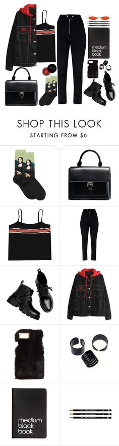 """g.j."" by escap3-from-reality ❤ liked on Polyvore featuring HOT SOX, Charlotte Russe, Dinks, Gentle Monster and Concrete Minerals"