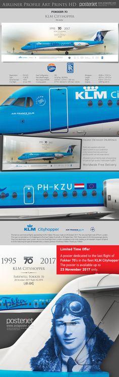 KLM Cityhopper Fokker 70 PH-KZU