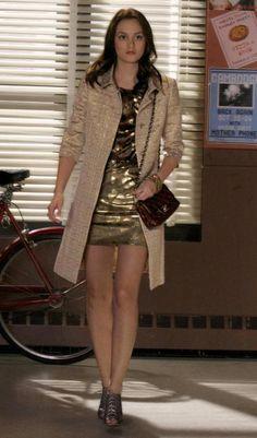 Red Valentino coat.  Oscar de la Renta dress.  Chanel bag.  Alexandre Birman shoes.