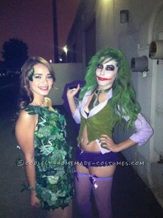 Poison ivy and the female joker Halloween costumes
