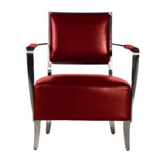Bellini Modern Living - Oscar Red Leather Arm Chair - Oscar RED