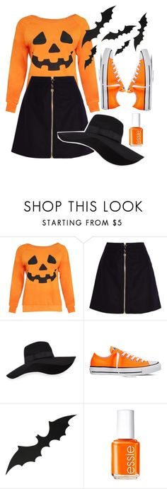 """""""Boo-Yah!"""" by purplesequin ❤ liked on Polyvore featuring Acne Studios, San Diego Hat Co., Converse and Essie"""