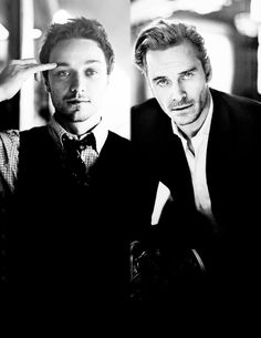 James McAvoy and Michael Fassbender. Sexy on their own, but those accents ::passes out:: James Mcavoy, X Mem, Charles Xavier, Fandom, Babe, Raining Men, Star Wars, Michael Fassbender, The Villain