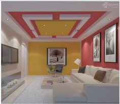 5 Connected Tips: Curved False Ceiling Interior Design l shaped false ceiling design.L Shaped False Ceiling Design wooden false ceiling bedroom. Gypsum Ceiling Design, House Ceiling Design, Ceiling Design Living Room, Bedroom False Ceiling Design, False Ceiling Living Room, Living Room Flooring, Ceiling Decor, Living Room Designs, Ceiling Ideas