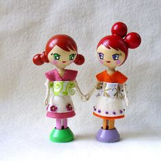 Oh my gosh, the cutest clothespin dolls EVER
