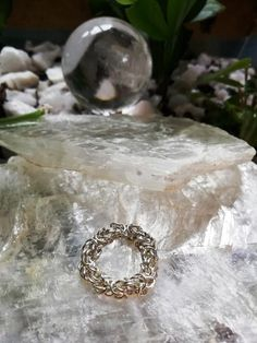 Sterling Silver 925 Chainmaille Ring Byzantine  #SterlingSilver925 #handmade #Byzantine #chainmaille #wire #RolleOn #silver #ring #viking #gift
