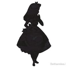 Alice in Wonderland , Black Picture Silhouette