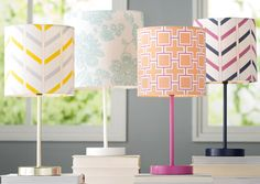 "11"" Ida Floral Print Cotton Drum Lamp Shade"