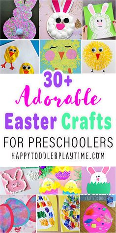 30+ Easy & Adorable Easter Crafts for Toddlers - HAPPY TODDLER PLAYTIME Easter Craft Activities, Easter Crafts For Toddlers, St Patricks Day Crafts For Kids, Easy Arts And Crafts, St Patrick's Day Crafts, Art Activities For Kids, Easter Crafts For Kids, Toddler Crafts, Therapy Activities