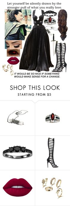 """""""For my bff"""" by surfinsunshine ❤ liked on Polyvore featuring Zuhair Murad, Bliss Diamond, Paul Andrew and Lime Crime"""