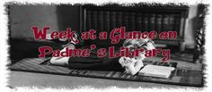 Along with starting up this new page for my blog I'm also starting a new weekly post #WeekataGlanceonPadmesLibrary featuring links to what was in my blog throughout the week.  This week had a variety of genres, #releases, #reviews, #giveaways(some may be over and some are still open).  It's never to late to find something new to read                         https://padmeslibrary.blogspot.com/2017/08/week-at-glance-on-padmes-library-8717.html