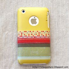 Easy way to decorate your iphone case or really any cell phone case using washi tape or duct tape :D