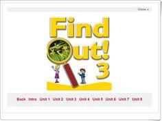 """""""""""""""Find Out 3"""""""", de la Editorial MACMILLAN, Inglés de 3º Nivel de Educación Primaria. Actividades interactivas complementarias a cada unidad didáctica de los libros de texto de esta editorial."""