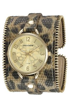 76484LPMVDH1 Relógio Feminino Pulseira de Couro Mondaine