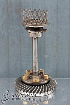 STC Scrap Sculptures 2013 - Candle holder Centerpiece