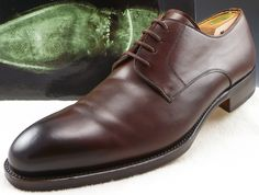 Magnanni Mens Shoes Size 11.5 Burnished Leather Oxfords 15845 Brown
