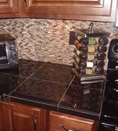 how to install a granite tile kitchen countertop | granite slab