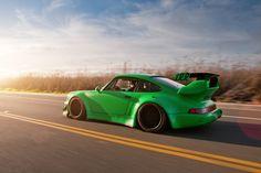 Green Porsche 911 · HD Desktop Wallpaper · The Big Photos Porsche 964, Porsche Cars, Porsche Carrera, Car Wallpapers, Hd Wallpaper, Windows Wallpaper, My Dream Car, Dream Cars, Jdm