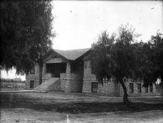 The original San Antonino Hospital, opened in 1907 by Dr. William Craig. Located on Arrow and San Antonio.  Upland, California, #dtupland