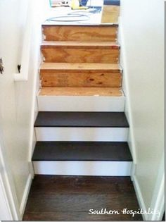 Painted Wood Stairs. Budget Friendly, Fun To Do, And They Look Great