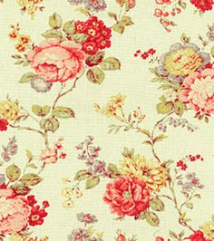 Home Decor Fabrics-Waverly Coventry Hill Primrose Fabric, , hi-res Waverly Bedding, Waverly Fabric, Shabby Vintage, Vintage Love, Home Decor Fabric, Fabric Crafts, Waverly Wallpaper, Romantic Shabby Chic, Textile Patterns
