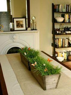 Centro de mesa natural y con mariposas de papel 1 Macetas decoradas con mariposas de papel