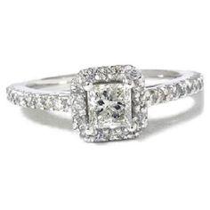 Halo White Diamond Ring --Wedding Items