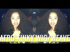 """..::::SUBSCRIBE:::..  PLEASE WATCH THE WHOLE VIDEO before you ask any questions.   BLOG POST http://www.jouelzy.com/2013/03/afro-kinky-wigweave/     I have 2 Packs of 14"""" Inch. Color 1 & 1B  I have not cut the hair.  I made the wig myself, check my wig making tutorial for details.     Bohyme Brazilian Wave Weave.   DIY U-Part/Full Wig    (Easy) Wig Making..."""