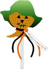 Scarecrow Lollipop With Tract For Fall Festivals During Halloween